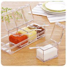 Sale Kitchen Home Acrylic Spice Container Jar Condiment Dispenser Salt Seasoning Box Intl Oem
