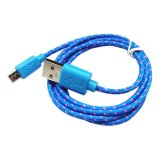 Store Knitted Micro Usb V8 Data Cable Blue Oem On China