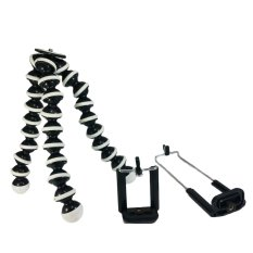 Lowest Price L Store 23Cm Tripod With Universal Smartphone And Camera Attachments Black White
