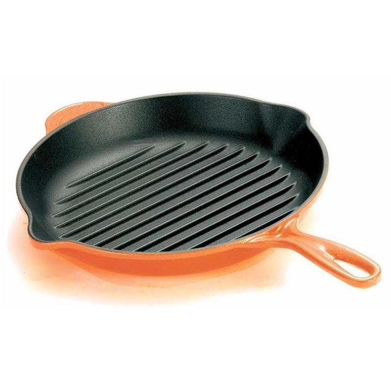 Le Creuset Cast Iron Round Skillet Grill 26cm, Classic (Flame) Singapore