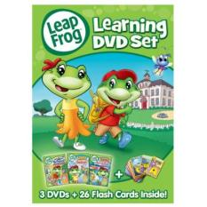 Leapfrog: Learning Dvd Set With 26 Flash Cards By Ichiban Kids.