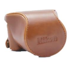 Sale Leather Case Cover Bag For Nikon J5 Brown Oem Original