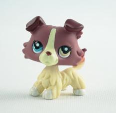 Littlest Pet Shop LPS #1262 Animals Plum Cream Collie Dog Puppy Toys Girl toys 2