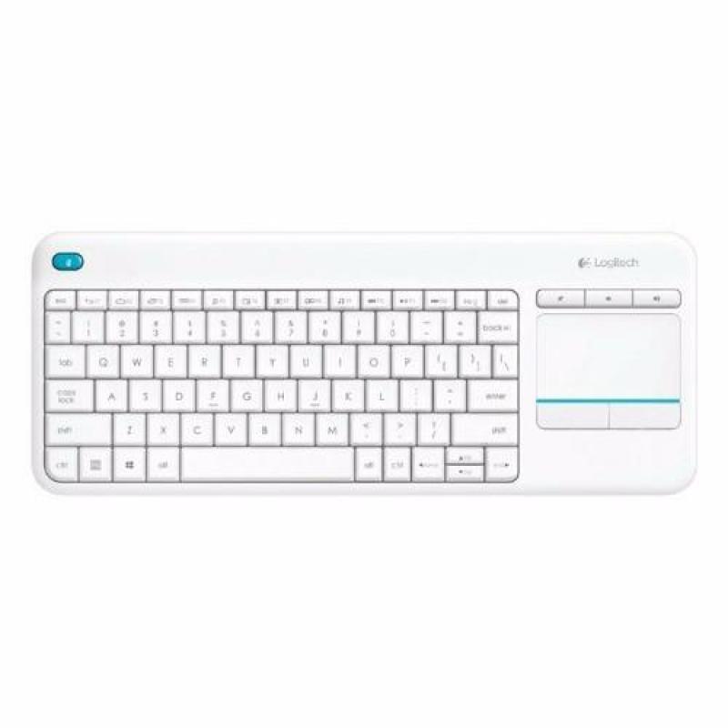 Logitech K400 Plus White Wireless Touch Keyboard #Promotion Singapore