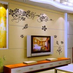 Price Lovely Flower Tv Background Wall Retro Removable Vinyl Art Sticker Mural Cheaper Not Specified China