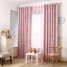 Lovely Princess Print Top Silver Grommets Blackout Curtain Gyc2161 Pink Export Deal