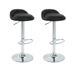 Compare Bs02 Low Bar Stool Black Set Of 2