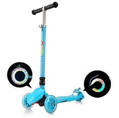 Top 10 Macoo F1 Pro Foldable And Height Adjustable Flashing Led Wheels Kids Scooter Blue