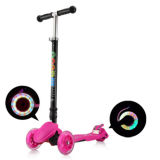 Wholesale Macoo F1 Pro Foldable And Height Adjustable Flashing Led Wheels Kids Scooter Pink