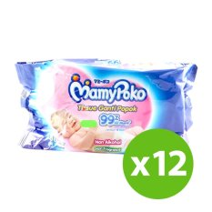 Cheap Mamy Poko Non Alcohol Non Perfume Baby Wipes 80 S X 12 Online