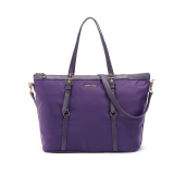 Best Reviews Of Mango Nylon Shoulder Tote Bag With Sling Strap Purple