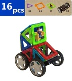Cheap Matched Magformers Magnetic Building Blocks For Children 16 Pcs