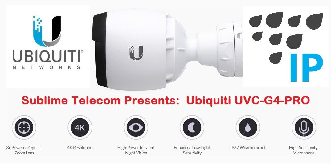 UVC-G4-PRO Ubiquiti Networks UniFi UVC G4 PRO 4K UHD Indoor Or Outdoor IP67  Network Bullet Camera UBNT Singapore