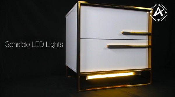 Luxury Gold Bedside Stand