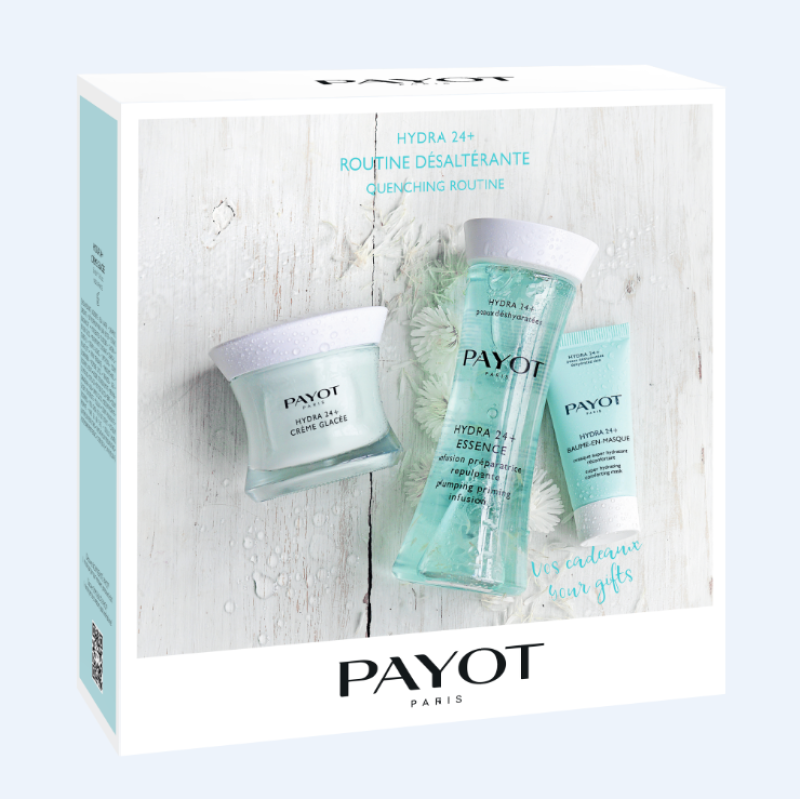 Buy PAYOT Hydra 24+ Quenching Routine Set (1 x Hydra 24+ Creme Glacee Face Cream 50ml + 1 x Hydra 24+ Essence 125ml + 1 x Hydra 24+ Baume-en-masque Face Mask 50ml) Singapore
