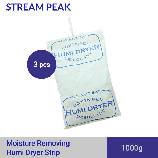 Humi Dryer Strip 1Kg 3 Pieces [ Dehumidifier, Moisture Absorber, Non-Toxic, Food Grade, Prevent Rusting, Prevent Moulding, Dry Box Cabinet, Hanging Desiccant, Hanging Dehumidifier ]