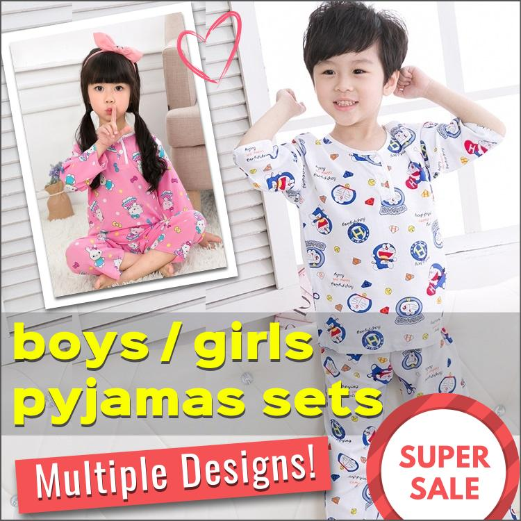 915f5b5d1c898 SG Seller   Silk Cotton Pyjamas Set   Boys and Girls   Kids   Children