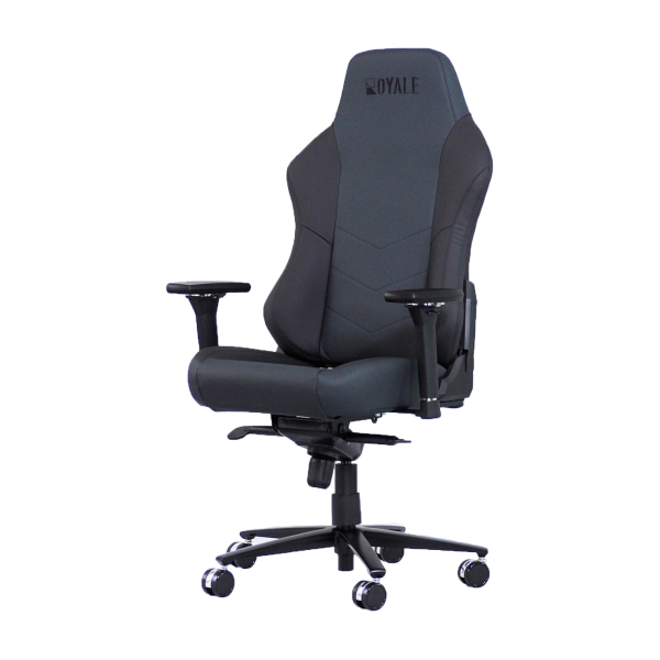 Italian NAPA Leather Royale Gaming Chair in Black/Red (Automotive-grade upholstery)