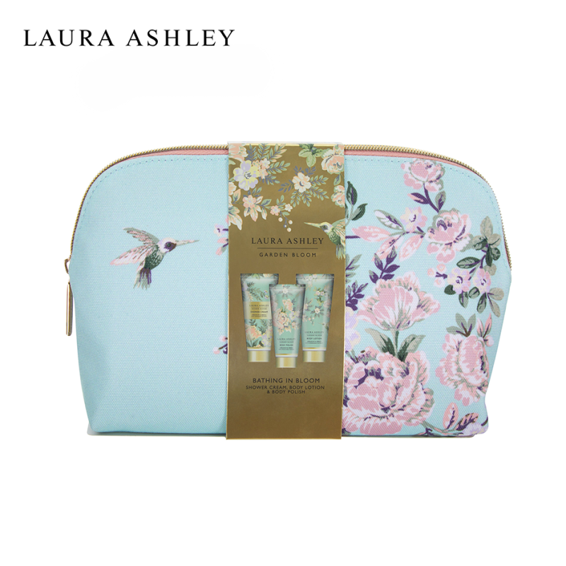 Buy Laura Ashley Garden Bloom Bathing in Bloom Wash Bag - Body Lotion Body Polish Shower Cream Moisturizing Beauty Holiday Gift Set Singapore