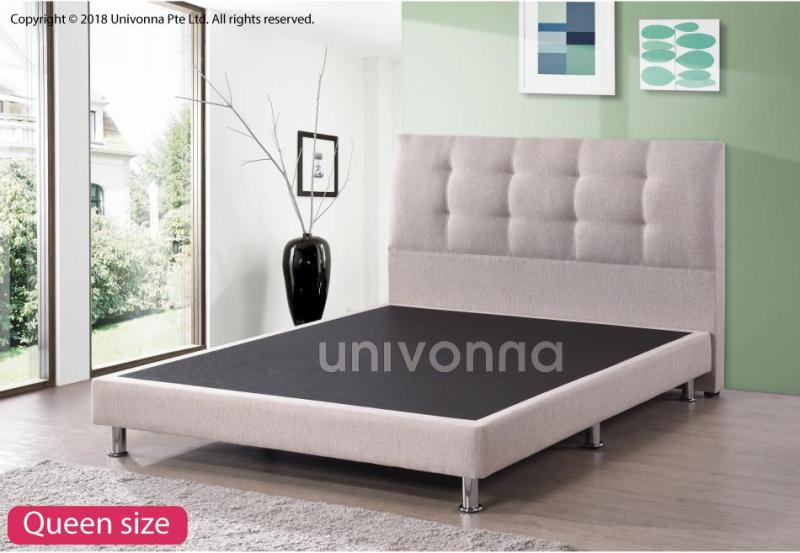 Bed Frame - Fabric upholstery - Metal legs - Color Choices - Available in all sizes