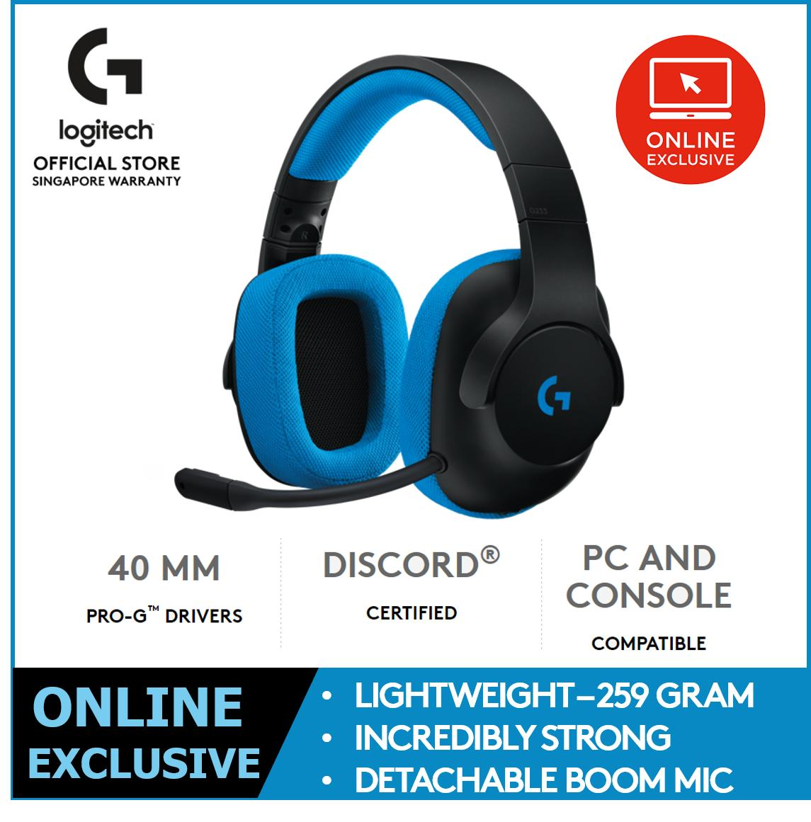 Logitech G233 Prodigy Gaming Headset for PC & Console (Online Exclusive)