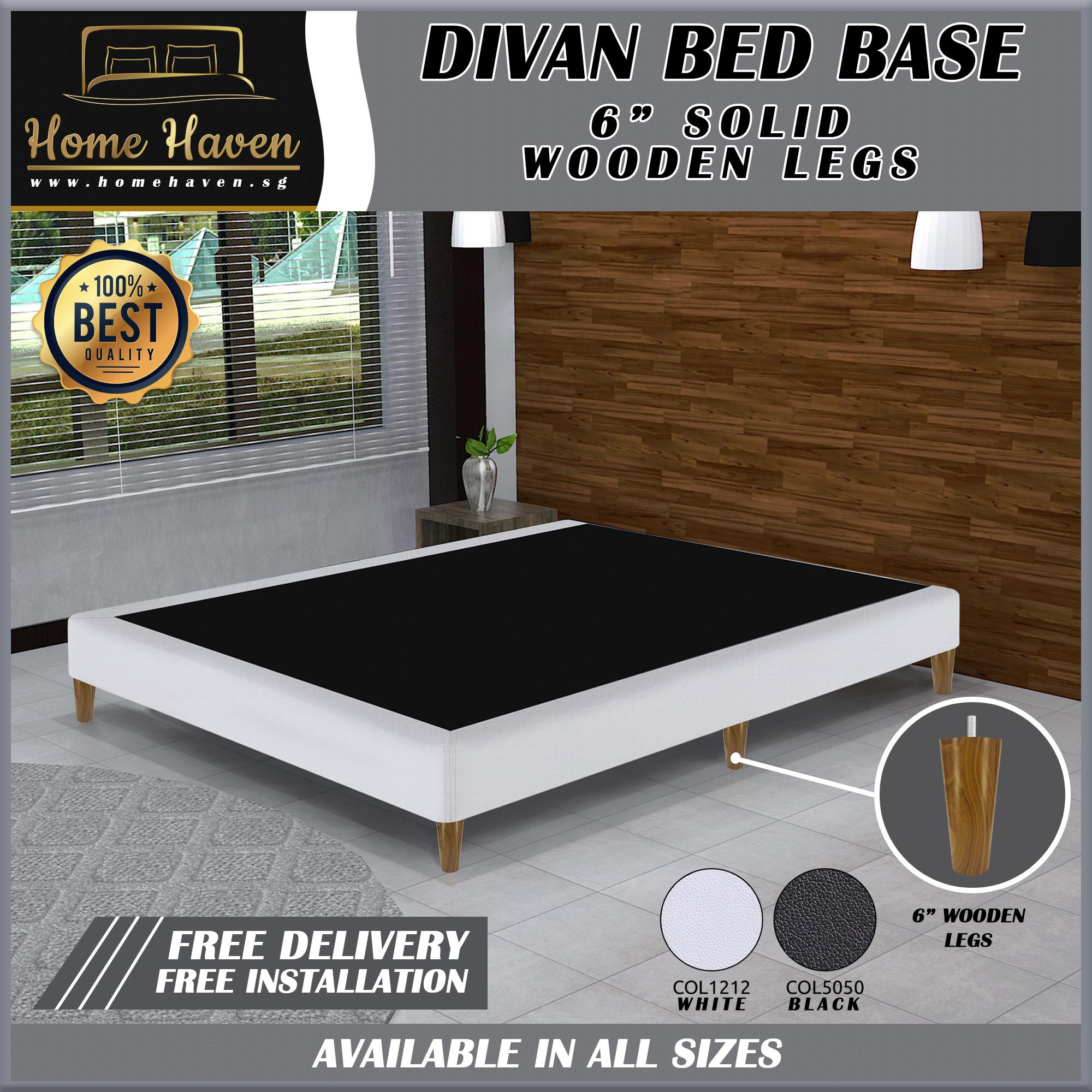 DIVAN BED BASE WITH 6 INCHES WOODEN LEGS