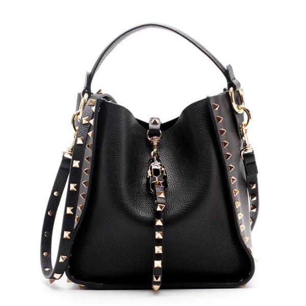 Genuine Leather RockStudd Tote Bag