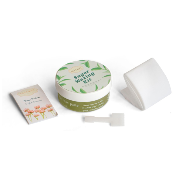 Buy Mirael Sugar Waxing Kit Hair Removal Depilatory Green Tea 100% Natural Ingredients Singapore