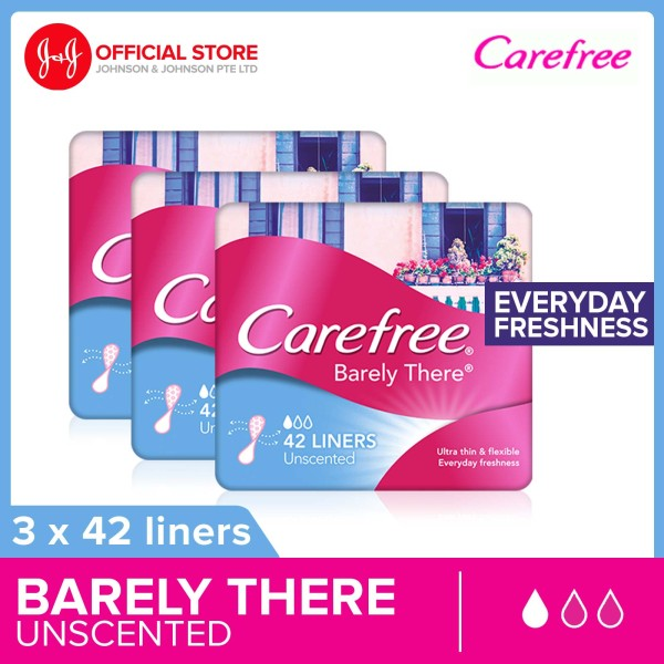 Buy Carefree Barely There Unscented 42pcs x3 Singapore
