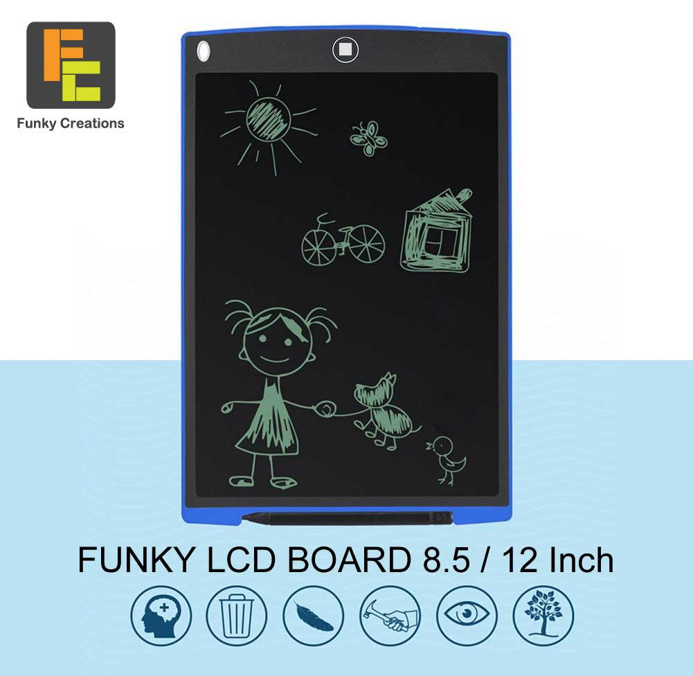 Funky LCD Writing and Drawing Board/Pad 8.5inch/12inch (4 colors)