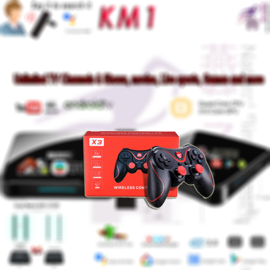 **ready Stock** Game X3 Wireless Bluetooth Gamepad Joystick  Wonderful Assistant Of Tv Box.