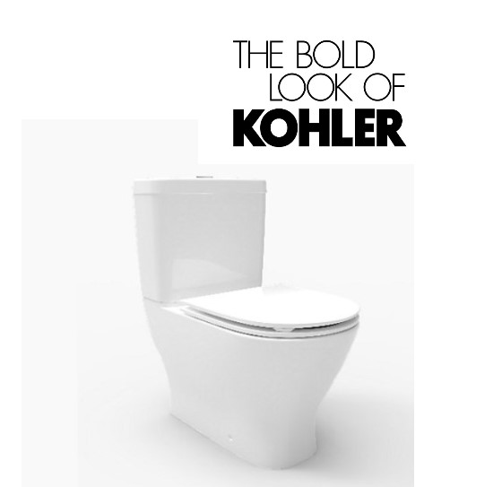 KOHLER Reach Up Two Piece Toilet Bowl With Slim Seat (LATEST MODEL)