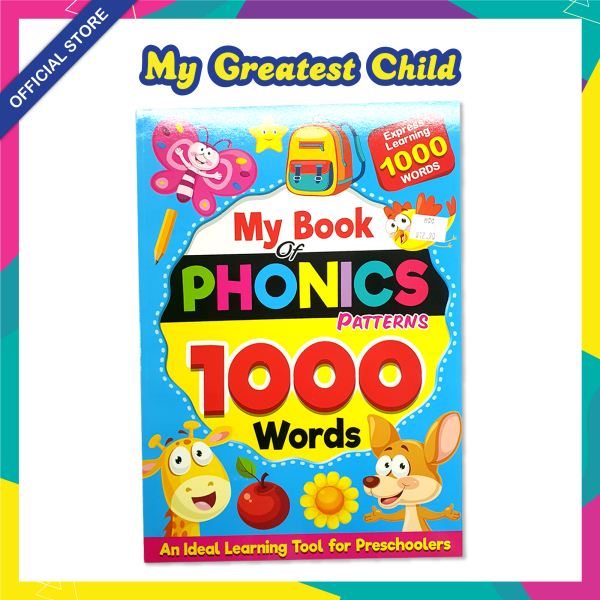 PHONICS PATTERNS 1,000 Words for PRESCHOOL / My Book of Phonics Patterns by Mind to Mind