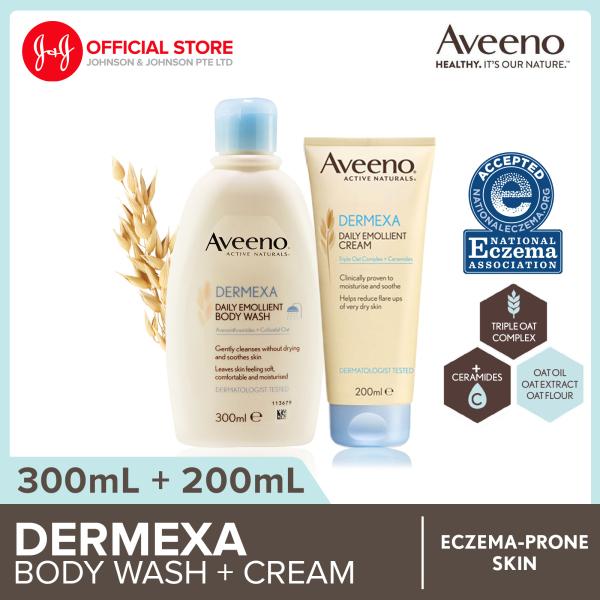 Buy Aveeno Dermexa Body Wash 300ml + Cream 200ml Singapore