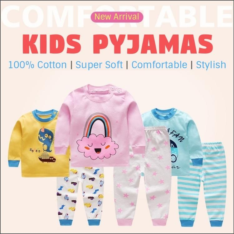 Sg Seller / Kids Pyjamas Set / Children / Baby / Girls / Boys / 100% Cotton / Fast Shipping / Sleepwear / Nightwear / Pajamas / Series Bnp By Bump Bazaar.