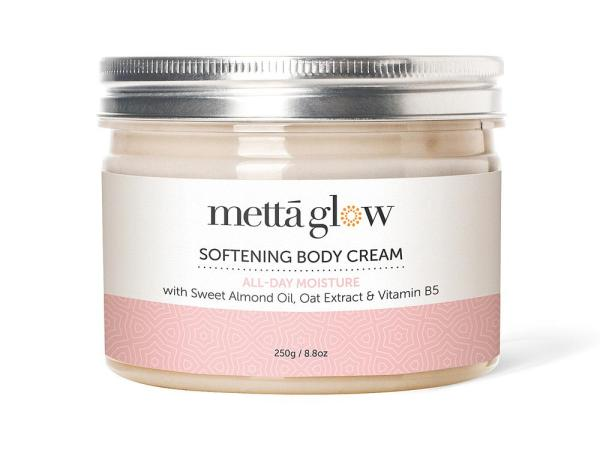 Buy Mettaglow Softening Body Cream All-Day Moisture with Nourishing Plant Oils, Oat Extract, Vitamin B5 & Essential Oils (250g) Singapore
