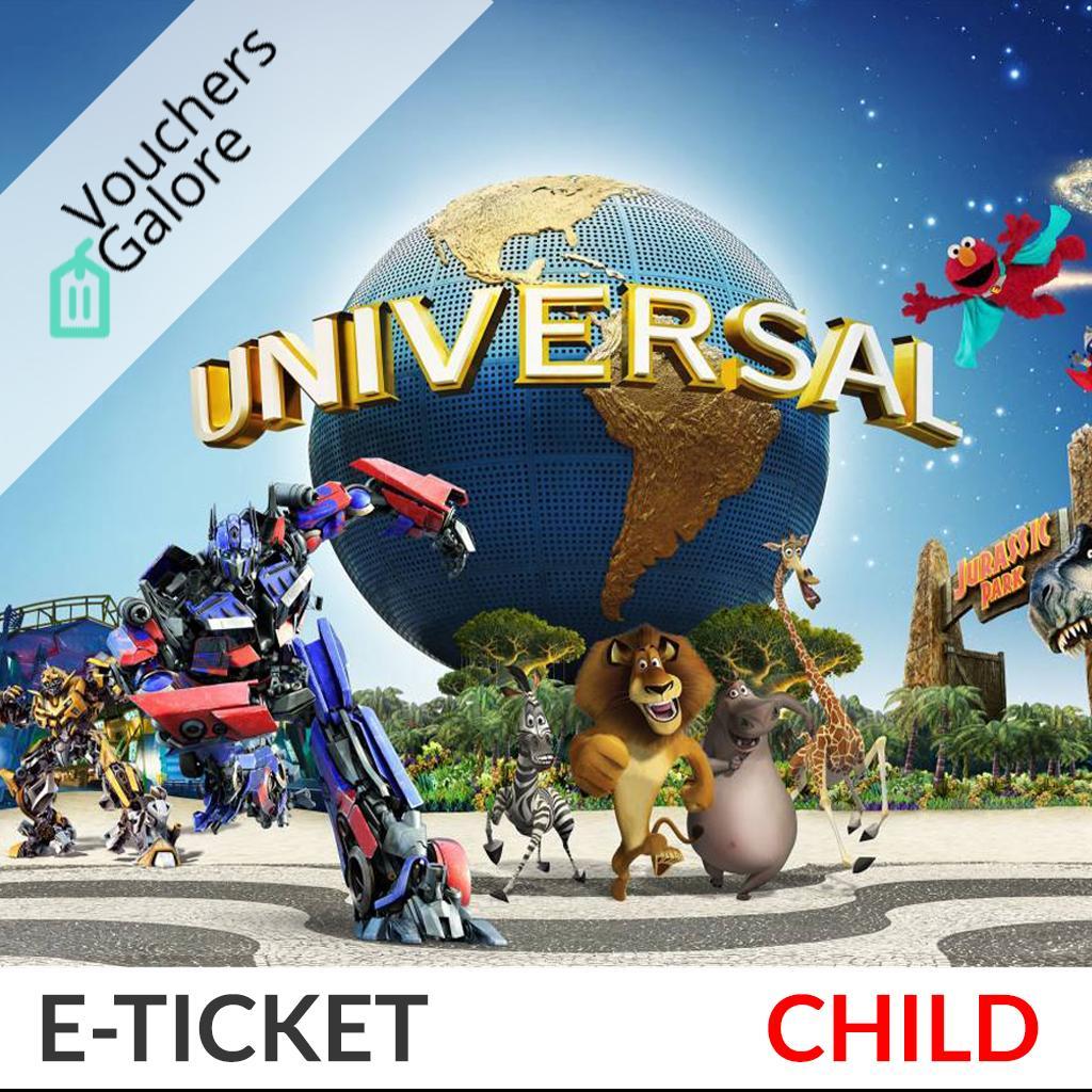 [Child] Universal Studios Singapore (USS) E-Ticket