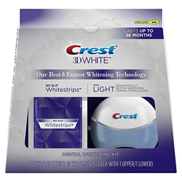 Buy [INSTOCKS! Fast Delivery] Crest 3D Whitestrips with Light Teeth Whitening Kit, 10 Treatments; 20 Strips (Instocks) Singapore