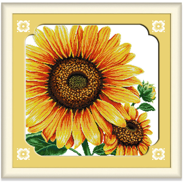 Tranh thêu chữ thập Hoa hướng dương Hoa DIY 14CT 11CT Cross Stitch Kit Sunflower Design Flower Style