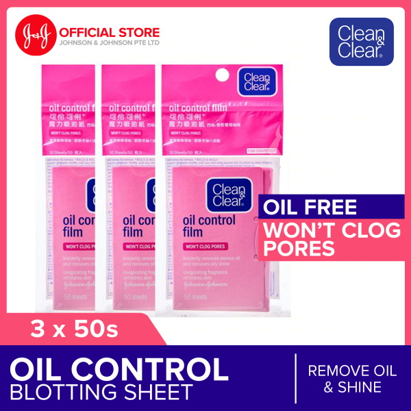 Buy Clean & Clear Oil-Control Film 50s - Pink Grapefruit x 3 Singapore