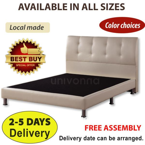 Solid PU Leather Divan Bed Frame