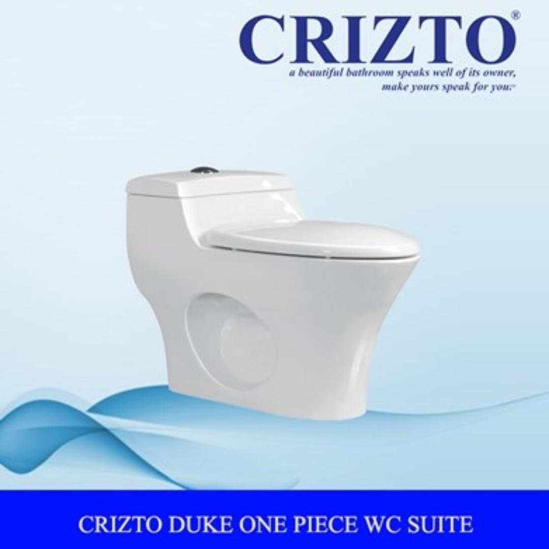 Crizto Duke One Piece S-Trap 10  Toilet Bowl