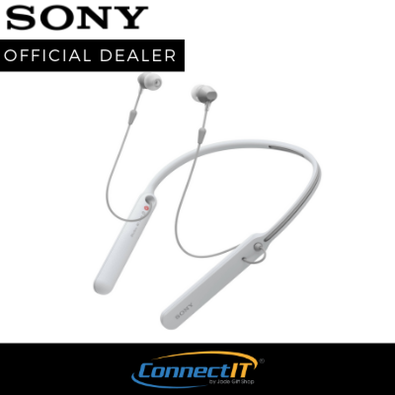 Sony WI-C400 Wireless NFC Bluetooth Neckband Earphones with Long Battery Life (Local 1 Year Warranty) Singapore