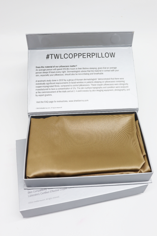 Buy Dr.TWL Dermaceuticals Targeted Sleep Wrinkle Therapeutics – Cuions™ Anti-Ageing Beauty Pillow Case (Copper Silk Pillow Case / Anti Ageing Pillow Case / Copper Pillow Case) Singapore