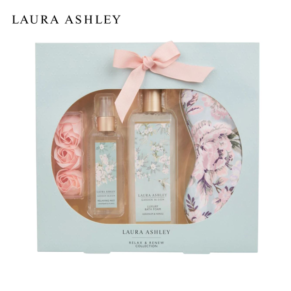 Buy Laura Ashley Garden Bloom Relax and Renew Collection - Fragranced Mist Bath Body Foam Sleeping Eye Mask Beauty Holiday Gift Set Singapore