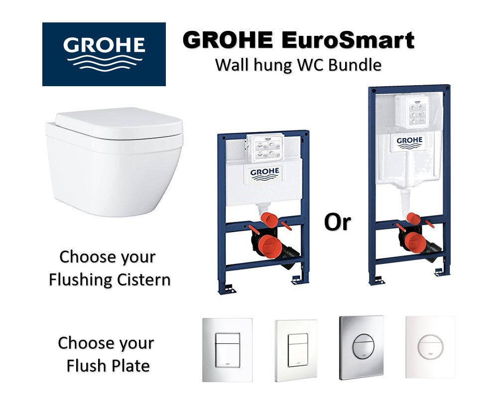 GROHE Eurosmart Wall Hung WC Bundle Package