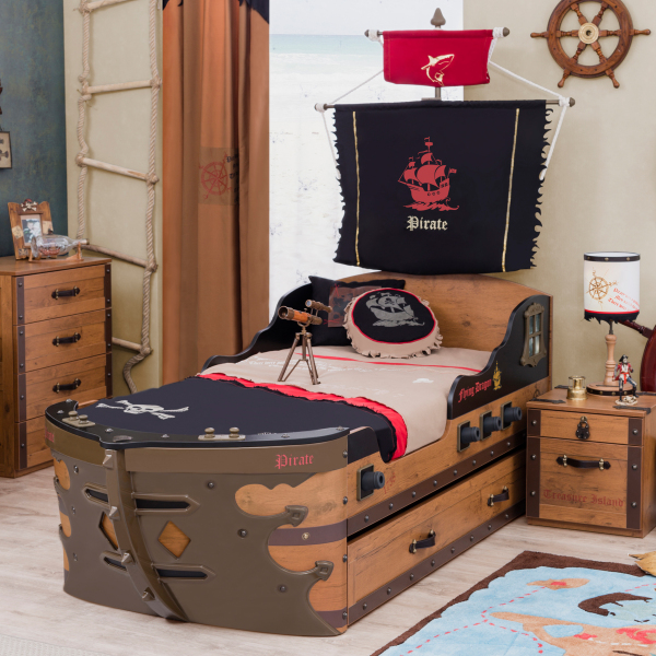 Cilek Pirate Ship Bed W Pull-Out