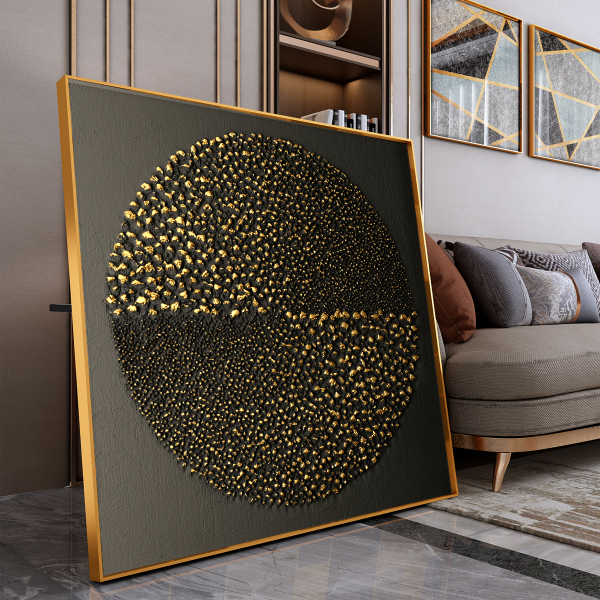 Abstract Painting - Pebbles in Round *Crystal Finishing*