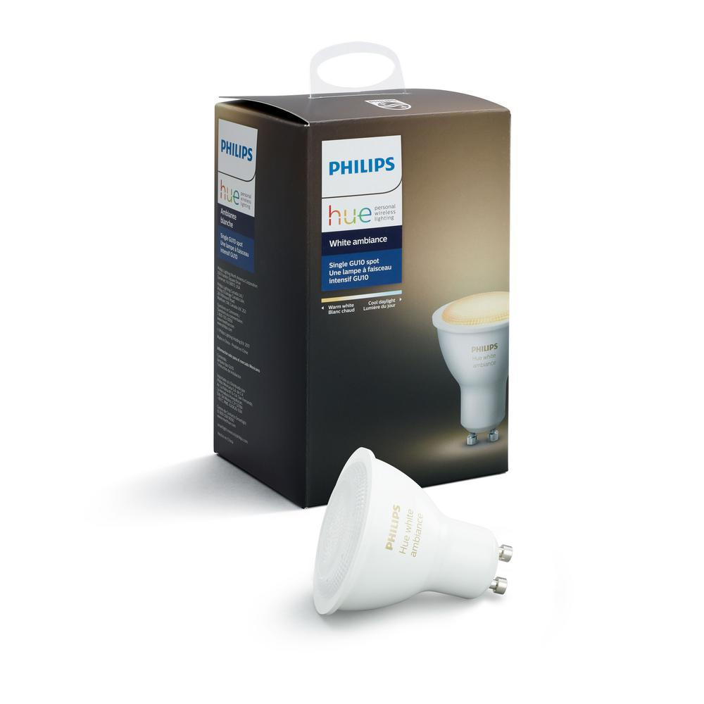Philips Hue GU10 White Ambiance LED Bulb