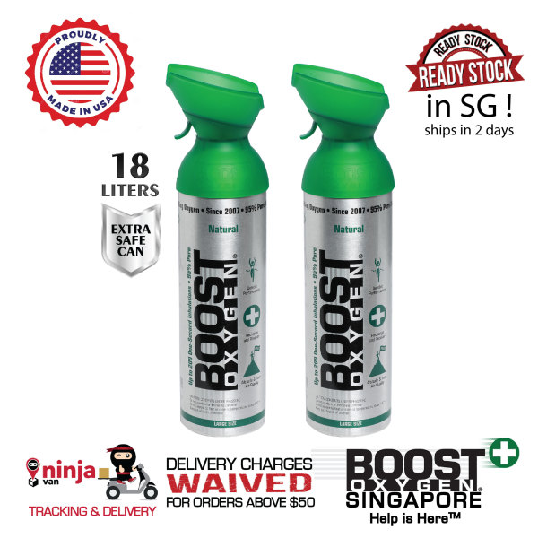 Buy 2x Boost Oxygen Natural (Large 9L) Singapore